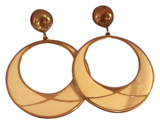 Preload https://item2.tradesy.com/images/other-beautiful-vintage-enamel-pierced-ivory-and-gold-hoop-earrings-2170401-0-0.jpg?width=440&height=440