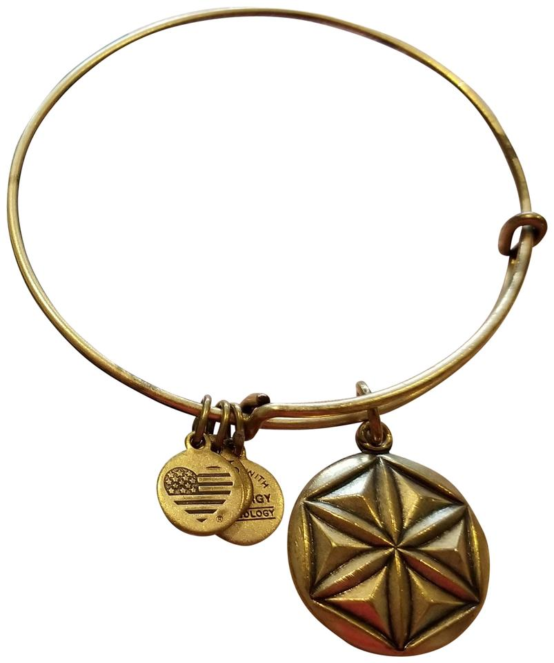 Alex And Ani Bracelet Aphrodite S Flower In Rafaelian Gold