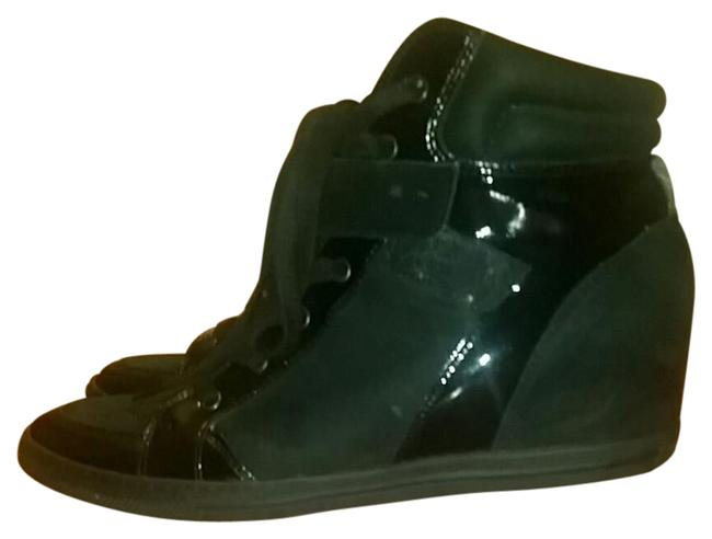 Paul Green Black Patent and Suede Tie Up Leather Sneakers Size US 8.5 Regular (M, B) Paul Green Black Patent and Suede Tie Up Leather Sneakers Size US 8.5 Regular (M, B) Image 1