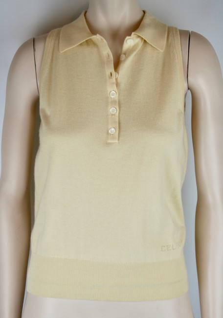 Céline Cashmere Sleeveless Collar Sweater Image 1