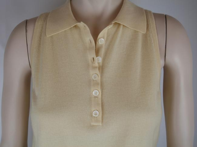 Céline Cashmere Sleeveless Collar Sweater Image 2
