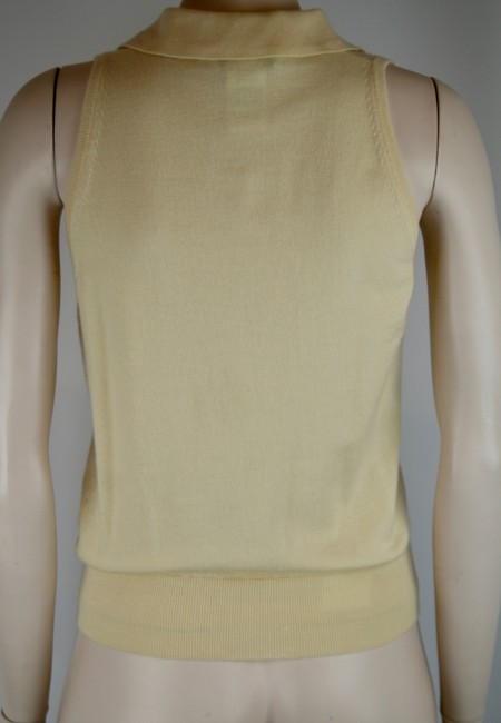 Céline Cashmere Sleeveless Collar Sweater Image 3
