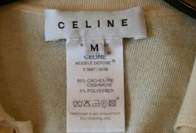 Céline Cashmere Sleeveless Collar Sweater Image 5