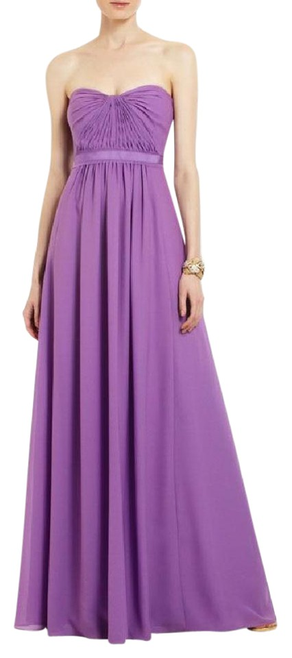 BCBGMAXAZRIA Lavender Amber Strapless Evening Gown Long Formal Dress ...
