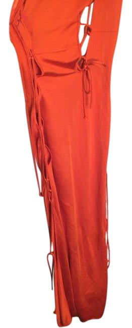 Item - Orange Tracy Cover Up 40275 Long Night Out Dress Size 2 (XS)