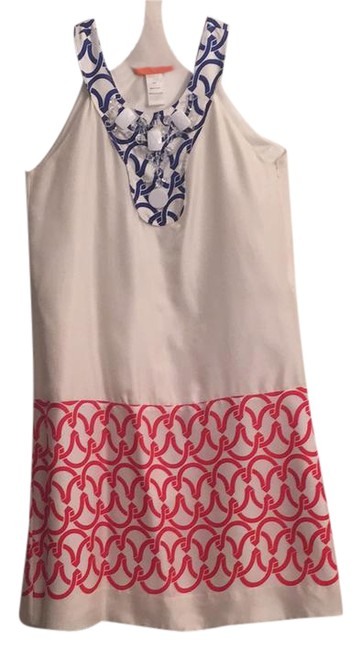 Item - White Sleeveless A Mid-length Short Casual Dress Size 2 (XS)