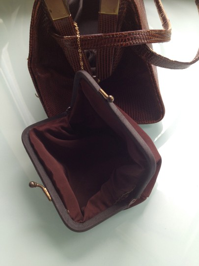 Other Vintage Coin Purse Included Satchel in Brown Image 4