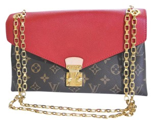 045834258 Louis Vuitton Pallas Rare Like New Cerise Chain Strap Red Leather ...