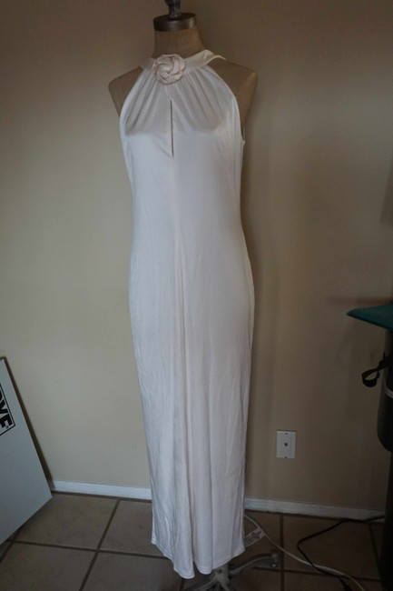 Item - White Acetate Boho with Rose Collar & Cape  Wedding Dress Size 6 (S)