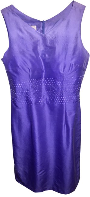 Item - Periwinkle Beaded Mid-length Night Out Dress Size 10 (M)