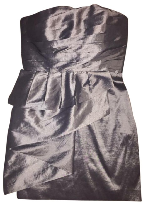 Item - Gun Metal Gray Formal Mid-length Cocktail Dress Size 6 (S)
