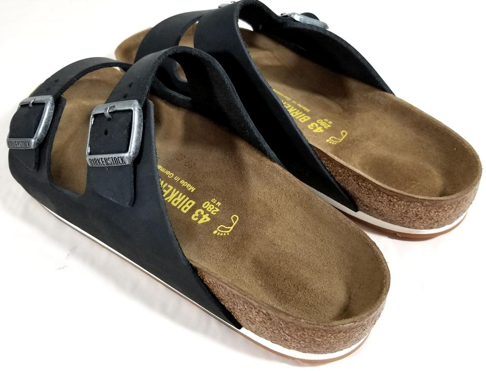 5782427f5b11 Birkenstock Black Nubuck Arizona Sport Sandals Size US 12 Regular (M ...