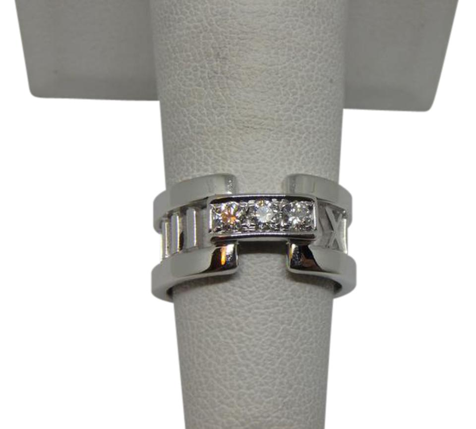 b772605a5 Tiffany & Co. White Gold and Diamond Atlas Open with 3 Size 4.5 Ring ...