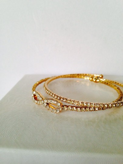Other Embellished by Leecia 2-Piece Crystal & Gold-Tone Bracelets Image 1