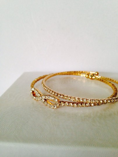 Other Embellished by Leecia 2-Piece Crystal & Gold-Tone Bracelets Image 2