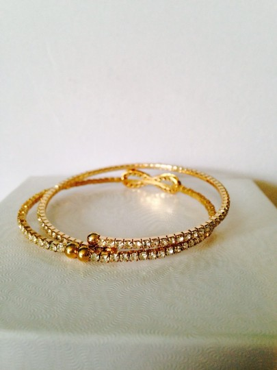 Other Embellished by Leecia 2-Piece Crystal & Gold-Tone Bracelets Image 3