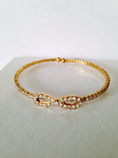 Other Embellished by Leecia 2-Piece Crystal & Gold-Tone Bracelets Image 4