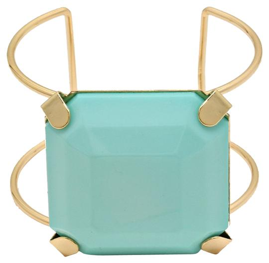 Other Mint Green Gold Block Cuff Bracelet Bangle Image 0
