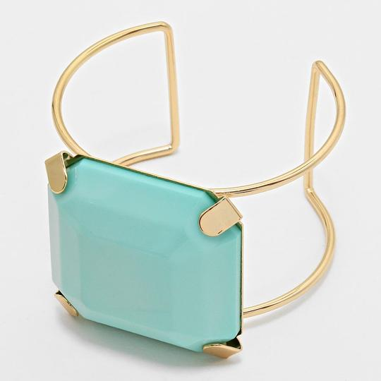 Other Mint Green Gold Block Cuff Bracelet Bangle Image 1