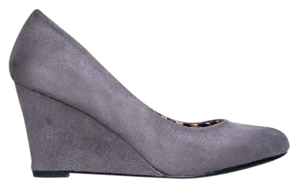 the best attitude factory outlets size 40 J. Adams Grey Suede Molli Low Closed Toe Heel Wedges Size US 7.5 ...