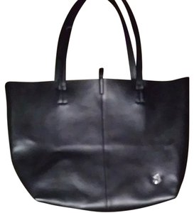 Vince Camuto Tote in Black with chrome hardware
