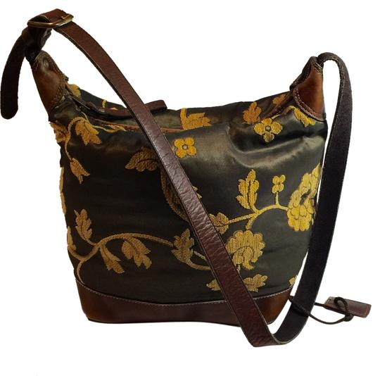 Latico Bucket Zipper Lined Made In Columbia Cross Body Adjustable Leather Tapestry Purse Shoulder Shoulder Bag
