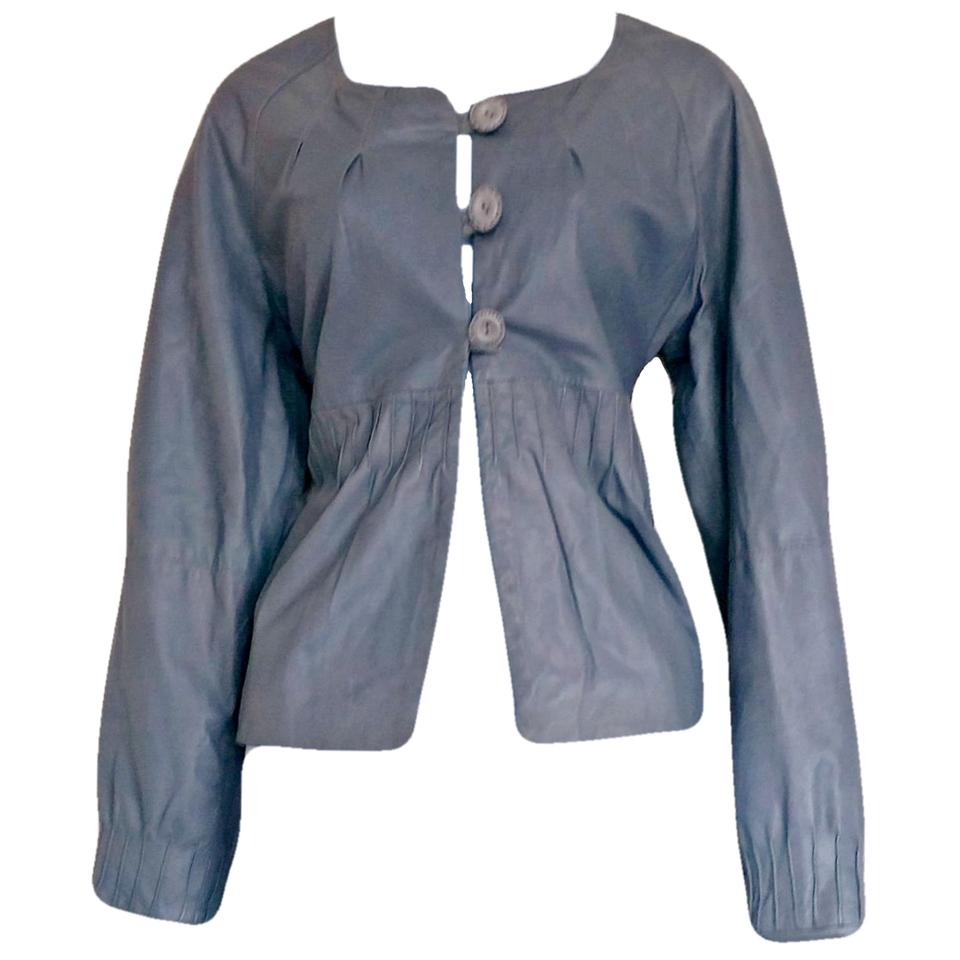 5ffb15b93 Gray Buttons Button Truly Girly Peasant Boho Jacket Size 8 (M) 86% off  retail