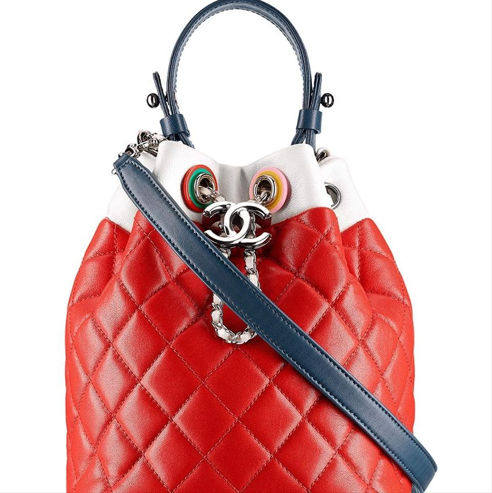 Chanel Mini Noe Red Black White Yellow Pink and Green Leather ...