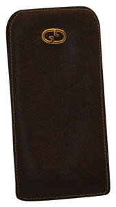 Gucci Gucci Vintage Brown Leather Eyeglass Case