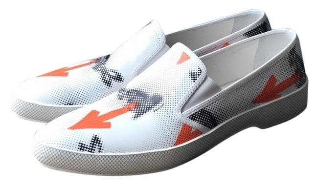 Prada White Black Orange New Sneakers Size US 10 Regular (M, B) Prada White Black Orange New Sneakers Size US 10 Regular (M, B) Image 1