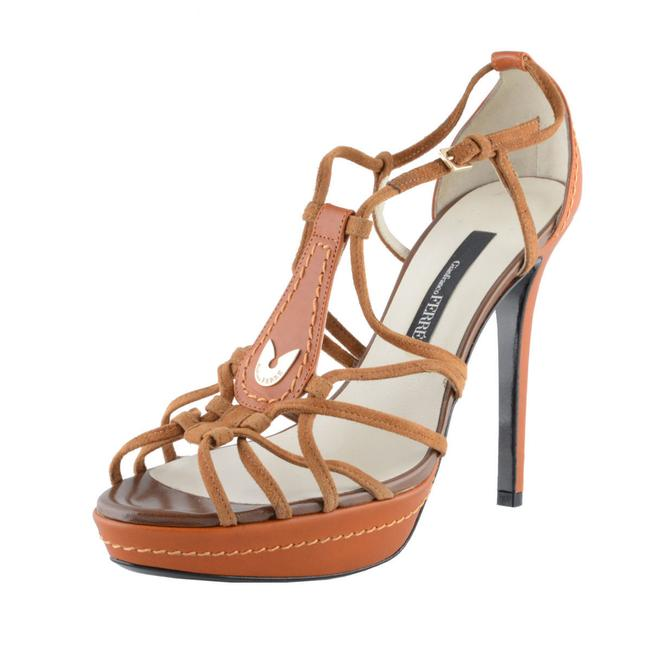 Item - Multi-color Women's Leather High Heel Open Toe Pumps Sandals Size US 7 Regular (M, B)