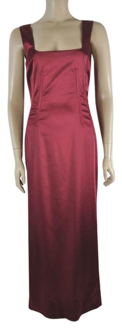 Preload https://img-static.tradesy.com/item/21707074/dolce-and-gabbana-burgundy-dolce-and-gabbana-liquid-silk-sleeveless-maxi-long-cocktail-dress-size-12-0-1-650-650.jpg
