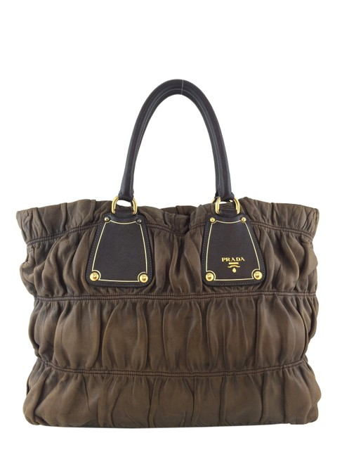 Prada Gaufre Antik Brown Nappa Leather Tote Prada Gaufre Antik Brown Nappa Leather Tote Image 1