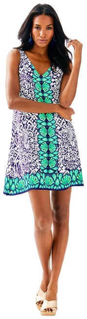 Preload https://img-static.tradesy.com/item/21707249/lilly-pulitzer-navy-pineapple-florin-sleeveless-v-neck-short-casual-dress-size-2-xs-0-4-650-650.jpg