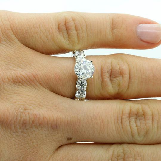 D 6.02 Cts Round Cut Eternity Platinum Engagement Ring