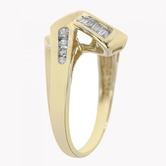 Avital & Co Jewelry 0.40 Carat Baguette And Round Cut Diamond Ring 14K Yellow Gold