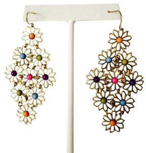 Hippie Flowers Multi-Color Shaky Earrings