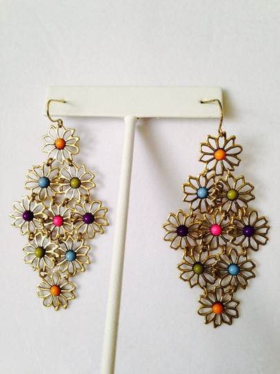 Other Hippie Flowers Multi-Color Shaky Earrings Image 1