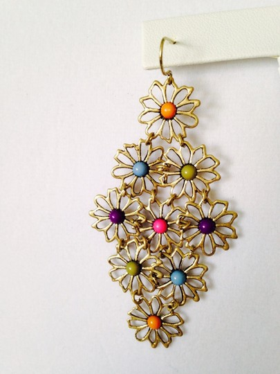 Other Hippie Flowers Multi-Color Shaky Earrings Image 3