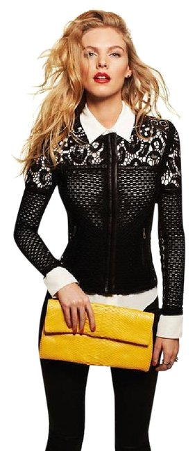 Preload https://img-static.tradesy.com/item/21707505/iro-black-lewis-lace-cutout-leather-cardigan-size-6-s-0-1-650-650.jpg