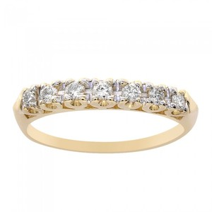 Avital & Co Jewelry 0.30 Carat Diamond Wedding Band 14k Yellow Gold Ring