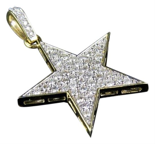 Preload https://img-static.tradesy.com/item/21707523/jewelry-unlimited-10k-yellow-gold-real-diamond-iced-star-pendant-150-ct-15-charm-0-1-540-540.jpg