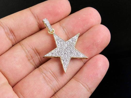 Jewelry Unlimited 10K Yellow Gold Real Diamond Iced Star Pendant 1.50 Ct 1.5