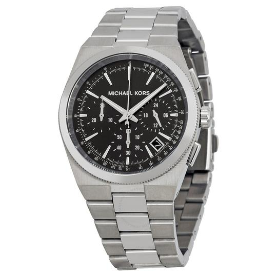 Preload https://img-static.tradesy.com/item/21707573/michael-kors-steel-black-women-s-chronograph-channing-mk6054-watch-0-1-540-540.jpg