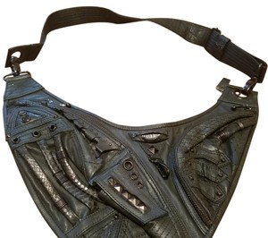 Jungle Tribe Leather Cross Body Bag