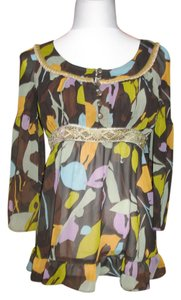 Cynthia Steffe Top Brown Multi