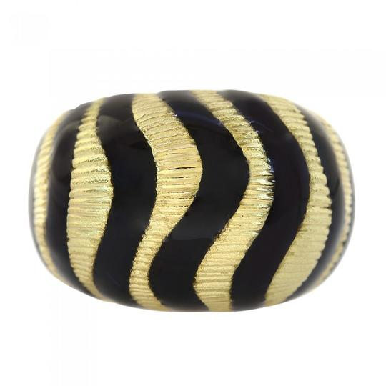 Preload https://img-static.tradesy.com/item/21707674/avital-and-co-jewelry-18k-yellow-gold-black-enamel-made-in-italy-fashion-women-ring-0-0-540-540.jpg