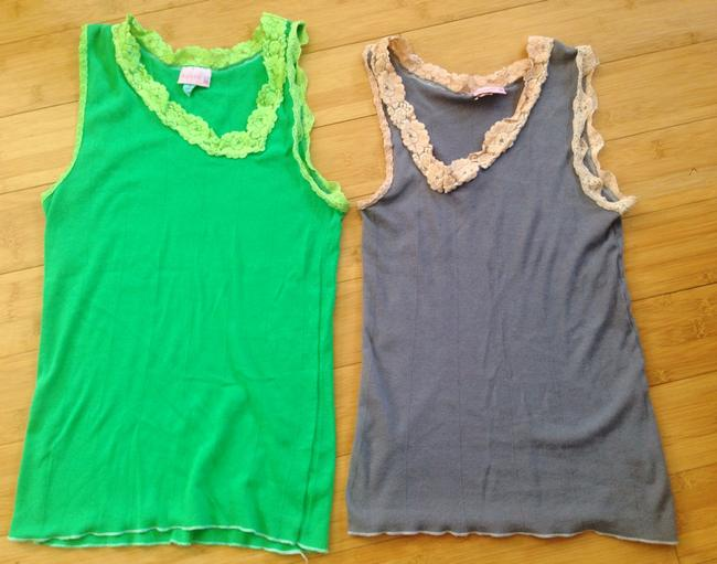 Urban Outfitters Top Green, Gray, Peach