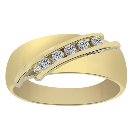 Avital & Co Jewelry 14k Yellow Gold 0.20 Carat Diamond Ring Men's Wedding Band