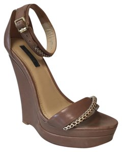 Rachel Zoe tan Wedges